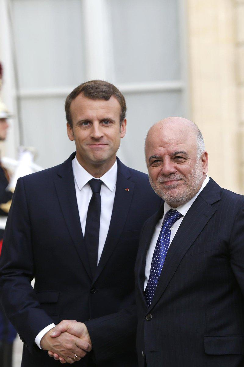 العبادي يحقق نجاحاً في باريس بتسريع العمل في تسليح القوّات العراقية DLYY494XkAAt8W2