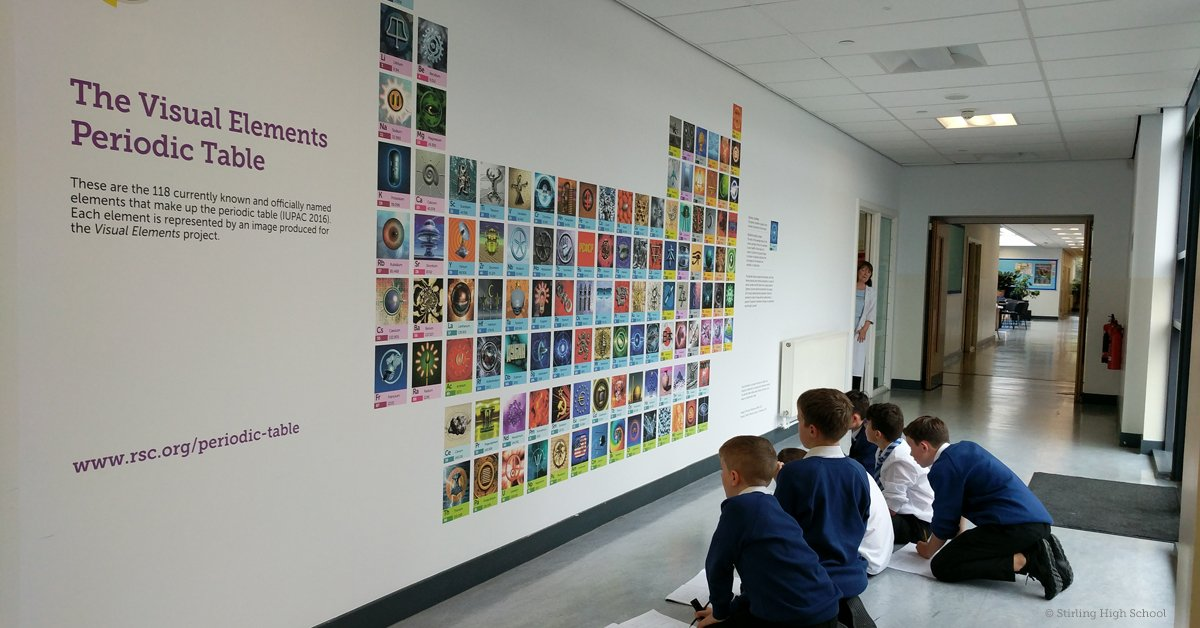 Royal society of chemistry on twitter the science dept royal society of chemistry on twitter the science dept stirlinghigh have unveiled a beautiful mural of our visual elements periodictable urtaz Images
