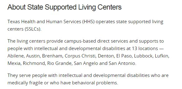 A Screenshot From The Department Of Health And Human Services Website That  Lists The Areas Where