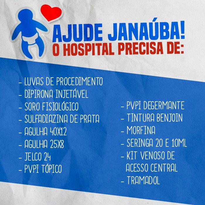 Deus tenha piedade dessas crianças e dessas famílias de Janaúba. O hospital pede doação dos materiais abaixo: #Janauba