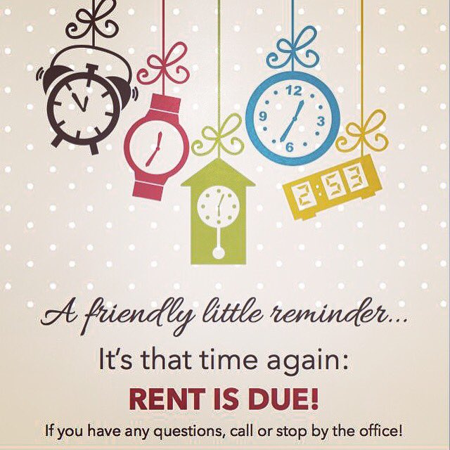 "Rent Due Clip Art: Grove Murfreesboro On Twitter: ""Please Pay Rent Today To"
