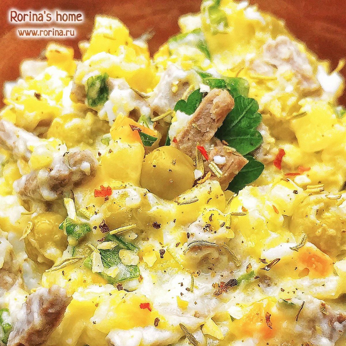 Рецепт салата с крабовыми палочками и кукурузой классический