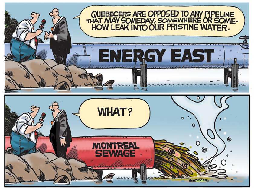 #EnergyEast is dead and Montreal's mayor @DenisCoderre cheers.  The hypocrisy from Quebec is stunning. #skpoli #cdnpoli