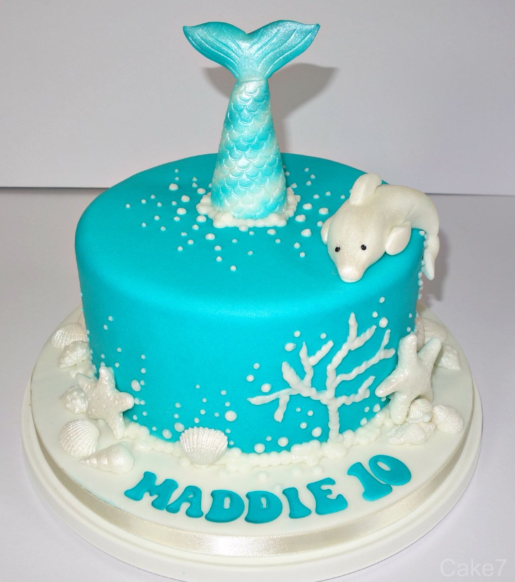 Surprising Cake7 On Twitter Dolphin Mermaid Oceanic Themed Double Funny Birthday Cards Online Alyptdamsfinfo