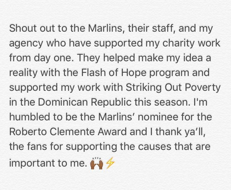 Humbled and honored to be in a category with other guys in the league committed to making a difference. Vote at https://t.co/79MXIwsQ9z