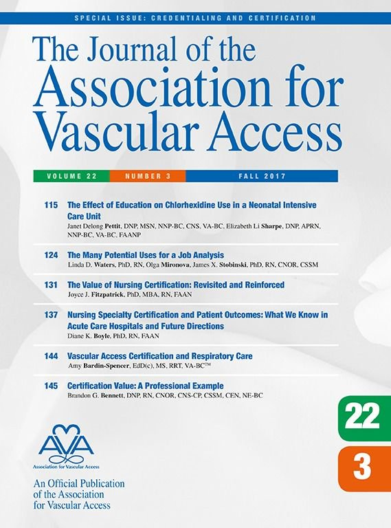 Association For Vascular Access On Twitter Java The Effect Of