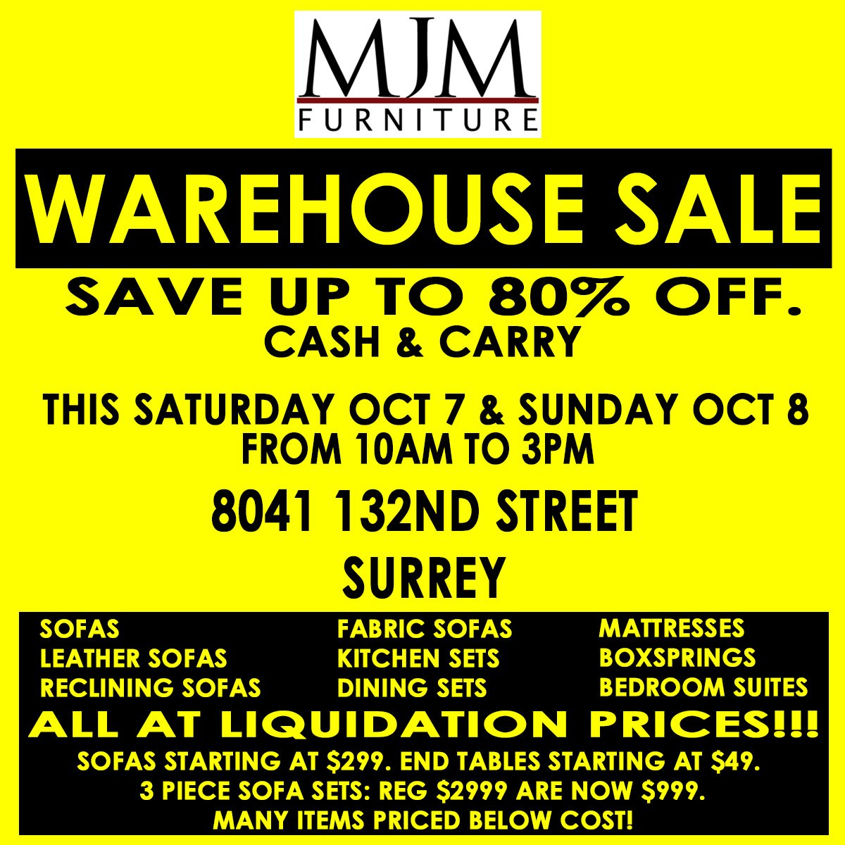 #mjmfurniture #sale #furnituresale #furniture #surrey #coquitlam #vancouver  #liquidationsale #furnitureliquidation #furnitureonsalepic.twitter.com/ ...