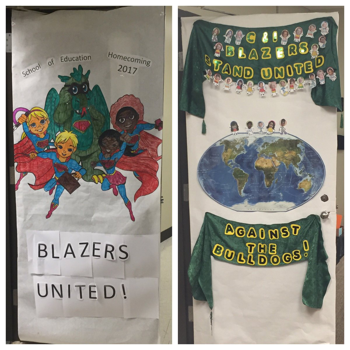 uab education on twitter door decorations for homecoming