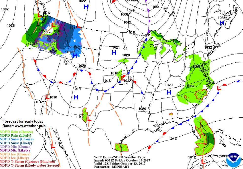 Forecast for early today. See all the maps and Radars at  http://www. weather.pub  &nbsp;   #wx #weather #storm #sun #windy<br>http://pic.twitter.com/rrG9Q1Uz55
