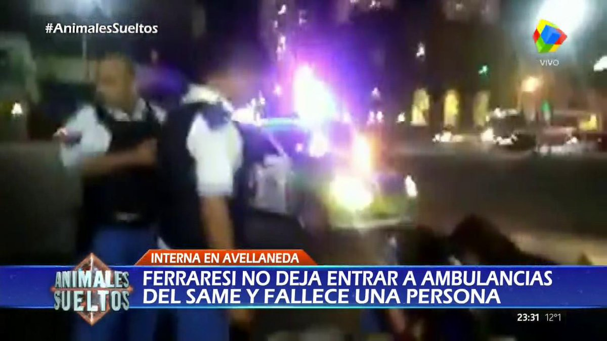 Avellaneda: El tenso momento de una ambulancia que no llega  #Animales...