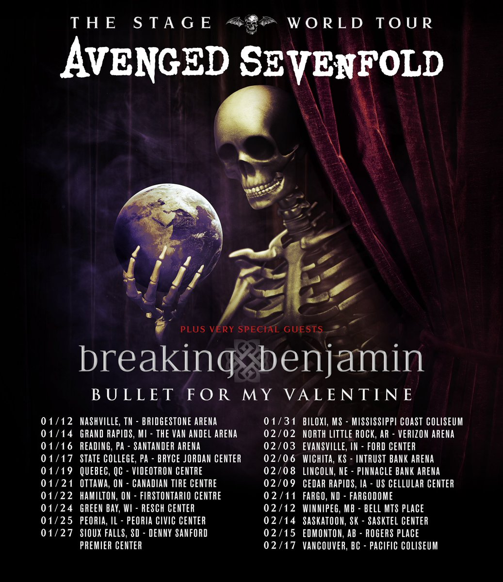 Avenged Sevenfold On Twitter Tickets VIP Packages For TheStageWorldTour In Canada With Breakingbenj Bfmvofficial Are Sale Now