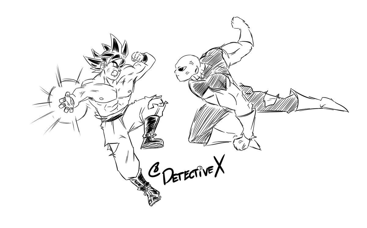 ken On Twitter Another Coffee Fueled Goku Vs Jiren Sketch