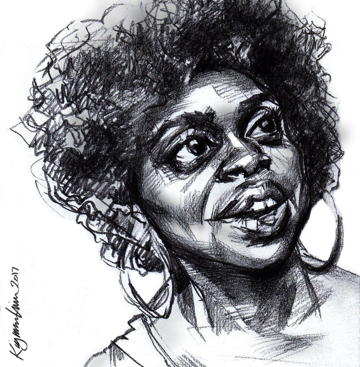 Buzzfeed's Quinta Brunson. Intended as an Inktober entry...better served as a pencil study. @quintabrunson #caricature #sketchbook #buzzfeed <br>http://pic.twitter.com/wYSEy4XYc3