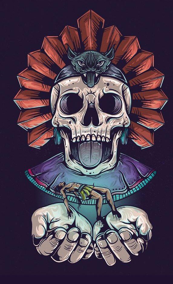 La muerte con una sonrisa. Cualli yohual...
