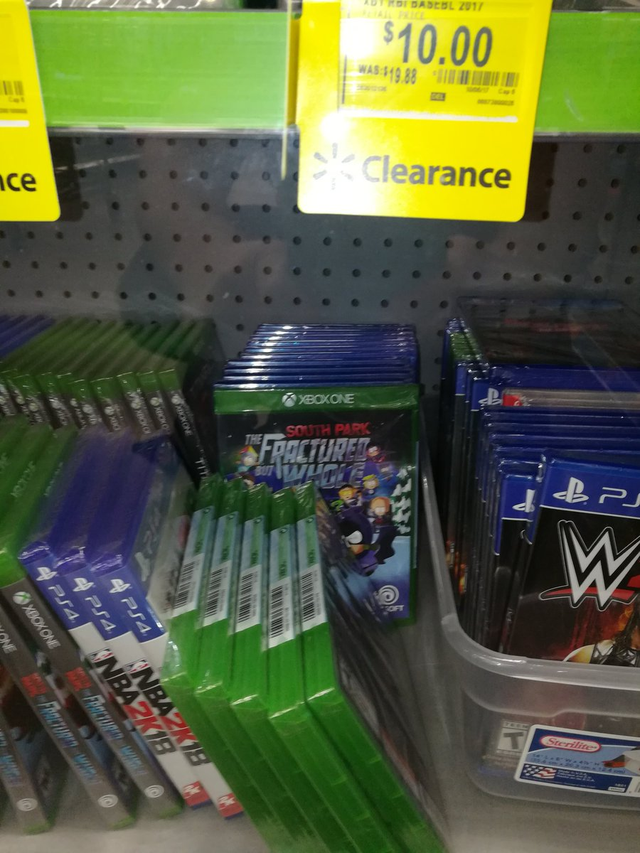 When a South Park Fractured But Whole is just sitting there at Wal Mart 5 days before release. #gaming #gamerproblems #SouthPark  #Walmart <br>http://pic.twitter.com/uVt30oqbxz