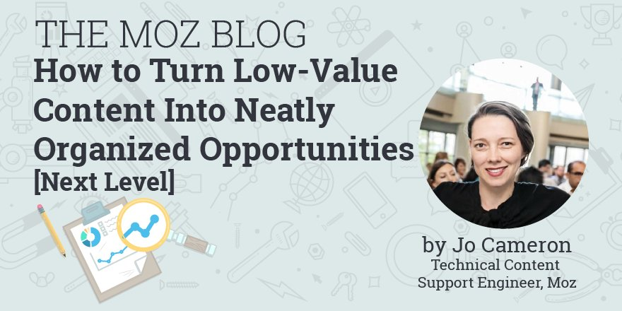 Uncover Low-Value Content and Stay Ahead of the Latest Google Updates #contentaudit #seoaudit  https:// moz.com/blog/low-value -content-next-level &nbsp; … <br>http://pic.twitter.com/zBMwj6m2zY