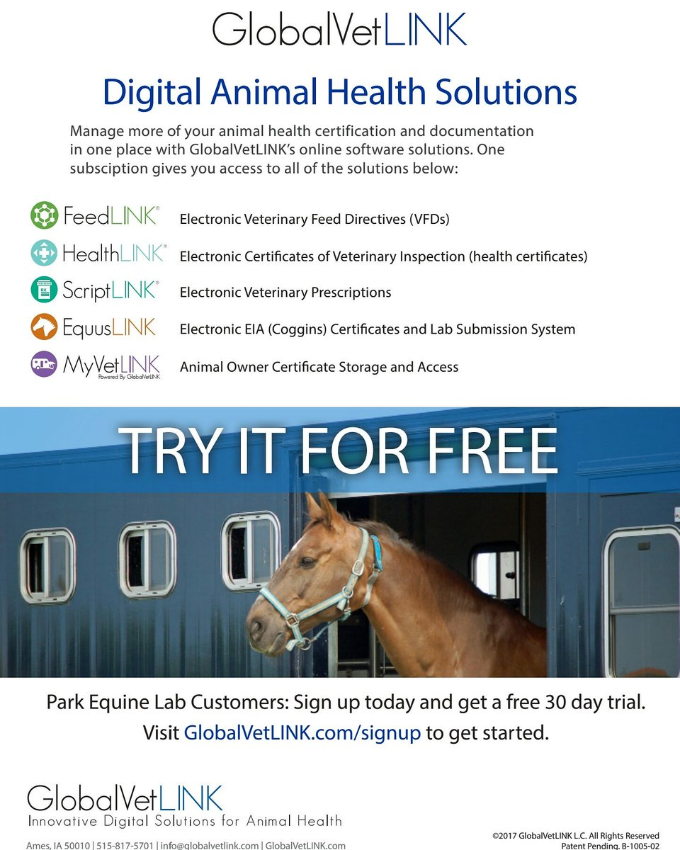 Park equine hospital on twitter park equine hospital now offers park equine hospital on twitter park equine hospital now offers eia results through globalvetlink veterinarians can also ship directly to our woodford 1betcityfo Gallery