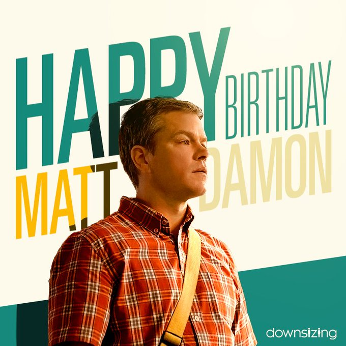 Happy birthday to the big man himself, Matt Damon!