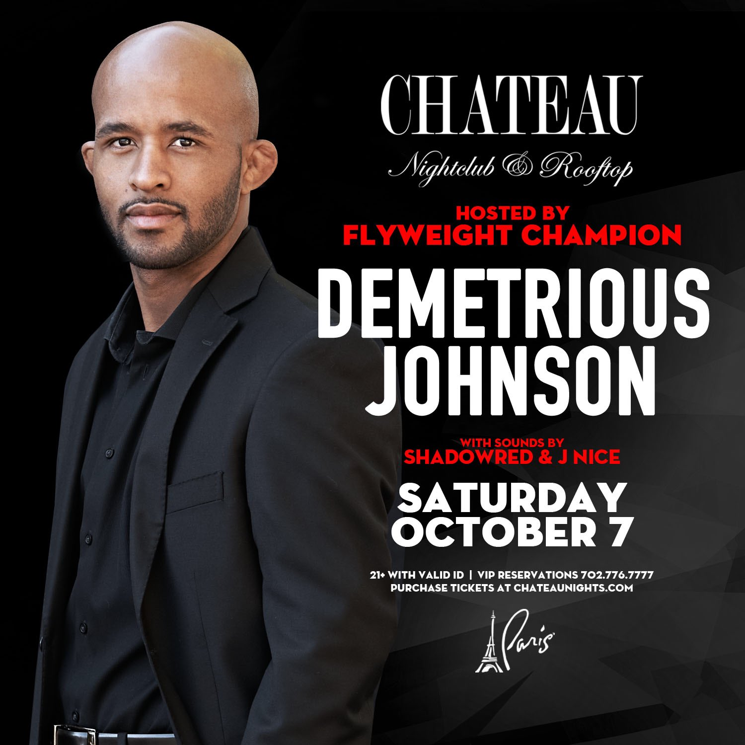 Official after party for the Mighty one! Come hang out after @Ufc 216 concludes @chateaulv #ufc216 #andstill https://t.co/JO8JKCLJrm