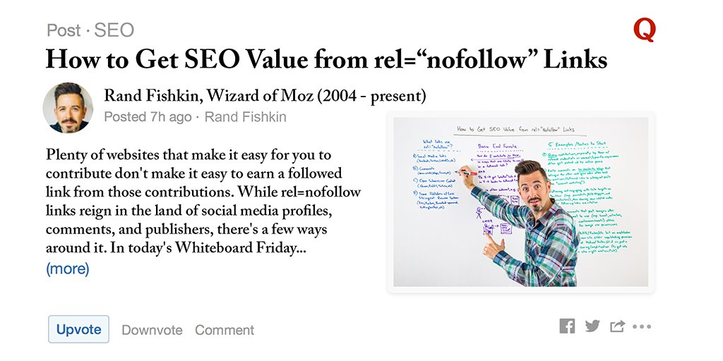 """Getting SEO Value from rel=""""nofollow"""" Links - Whiteboard Friday https://t.co/i7pxPxqm6n By @randfish https://t.co/No86dR1eqa"""