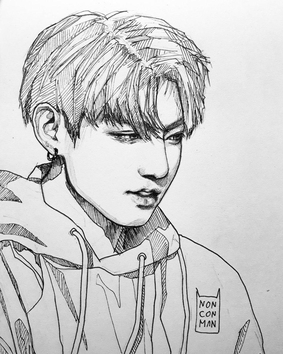 Line Art Instagram : ĸ ᴜ 🐾🐯 kuueirian twitter