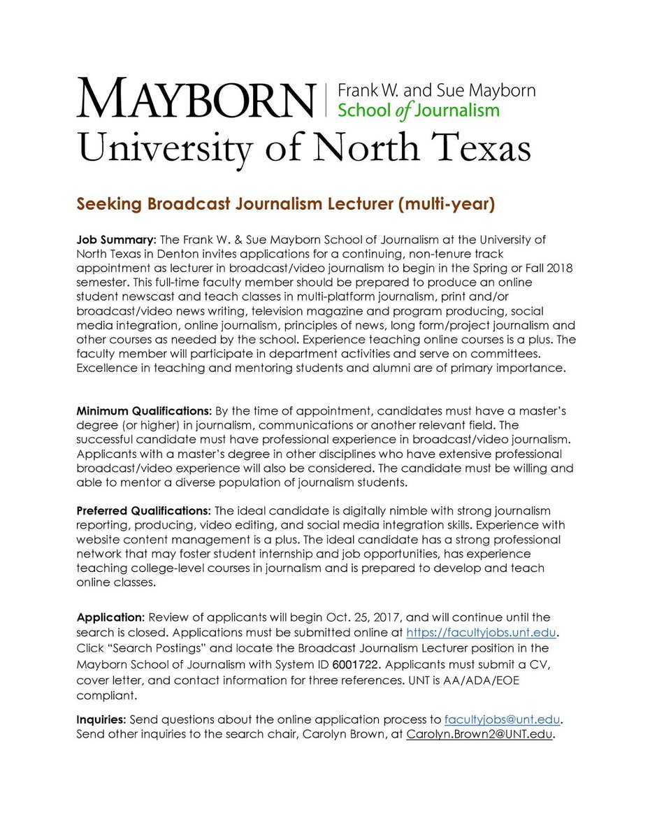 Cover Letter Broadcast Journalism, Custom Essay $10 Per Page