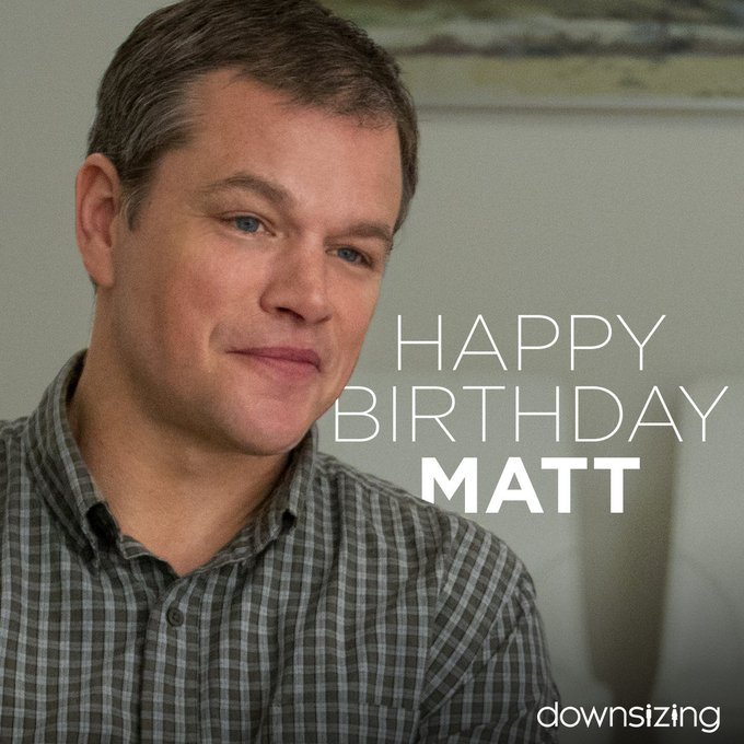 It takes a big man to go small. Happy Birthday, MATT DAMON! See him in this Boxing Day