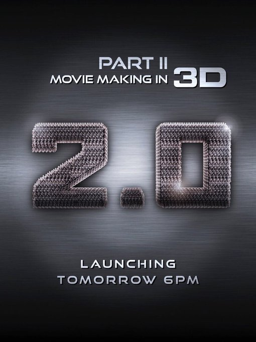 Get ready to experience what went into the making of @2Point0movie! Part II in 3D out tomorrow at 6pm. #2Point0 https://t.co/Xr9vO8uVL5