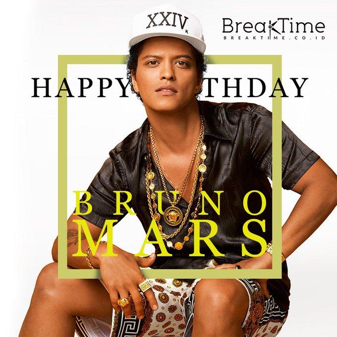 Happy Birthday Peter Gene \Bruno Mars\ Hernandez. Ia hari ini berulang tahun ke 31 lho B\Timers
