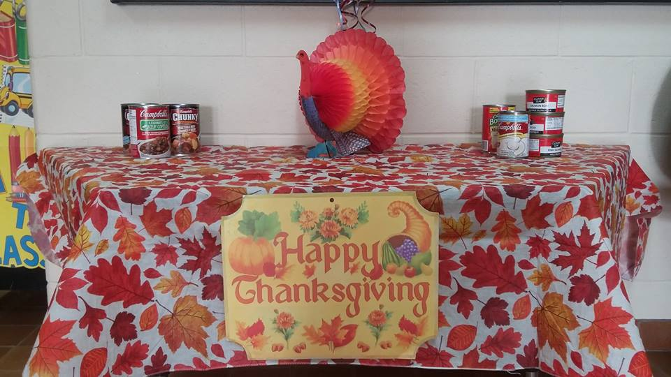 Thanksgiving Food Drive for the Good Shepherd Food Bank in Alliston