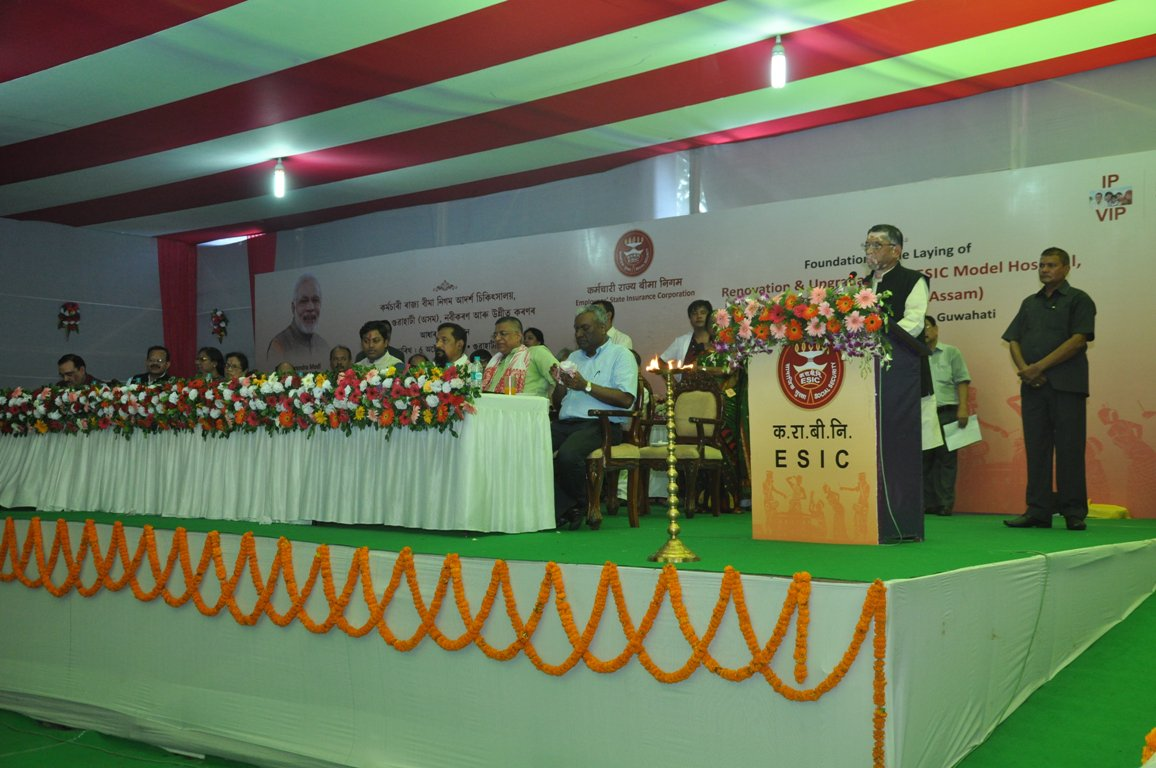 Esic On Twitter Shri Santoshgangwar Ji Laid The Foundation  # Renovation Bahut
