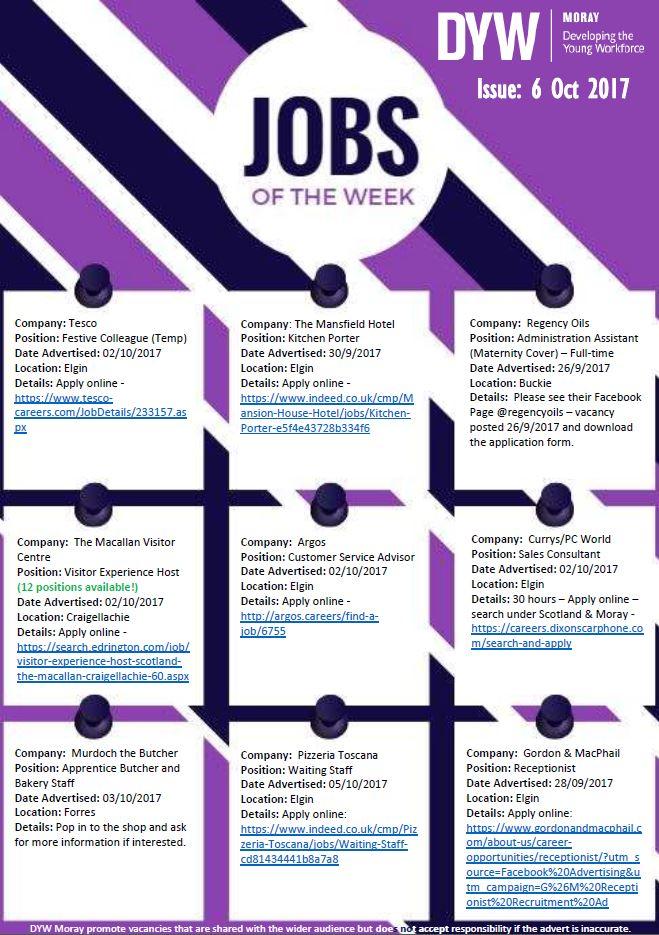 Dyw Moray On Twitter Our Jobs Of The Week Httpstj1w8ocrule