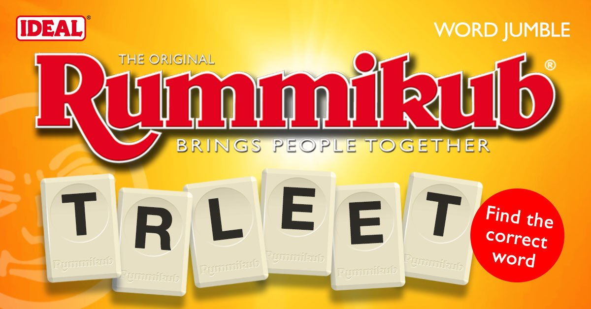 Can you work out the #RummikubWord jumble? 'Like' the official UK Facebook page for #puzzles and #competitions http://bit.ly/2vf0GIApic.twitter.com/7sko77ERTK