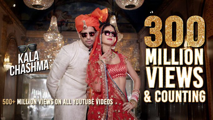 This is great news 😊 300 Million Views On Kala Chashma!! Proud & how :) https://t.co/6ydFmDbjkv