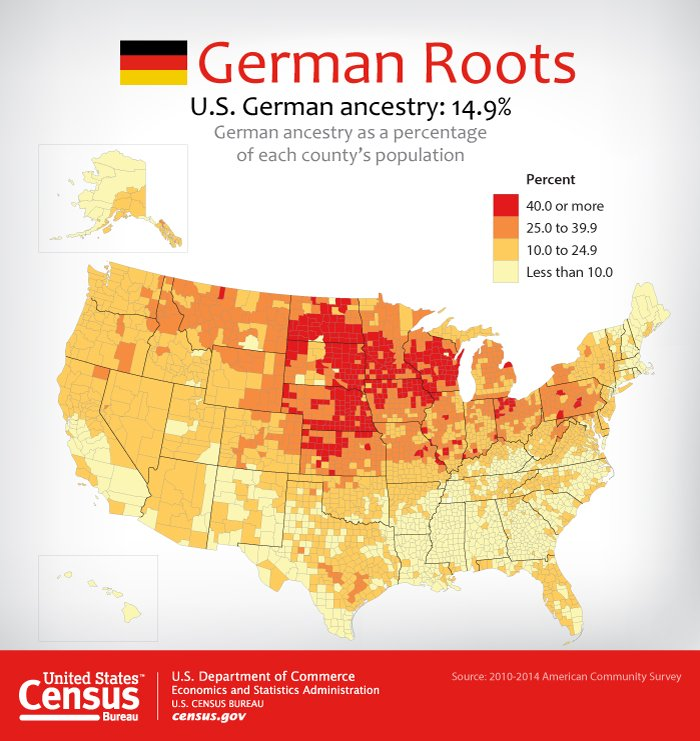 Germanamericanday Hashtag On Twitter - Us ancestries map