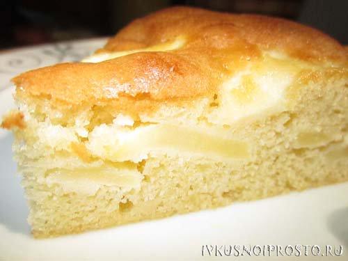 Шарлотка с яблоками рецепт юлии высоцкой
