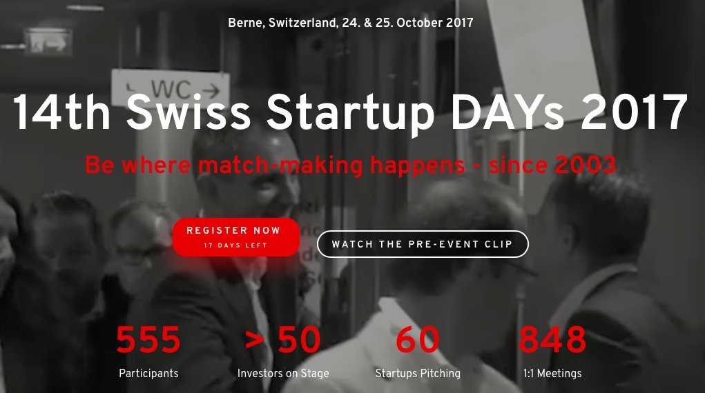 Book a 1:1 with us now at the Swiss Start up day on the 25th of October #AboutUs