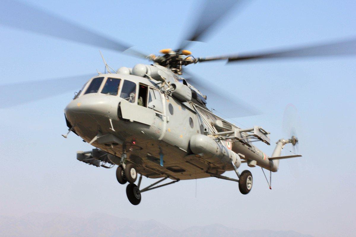Seven dead as IAF Mi-17 V5 helicopter crashes in Arunachal Pradesh https://t.co/bq6qhUGM57  (Representative Image)