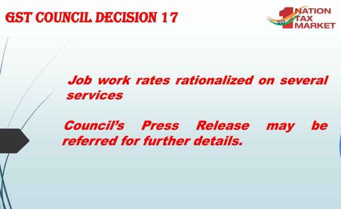 GST Council Decision 17