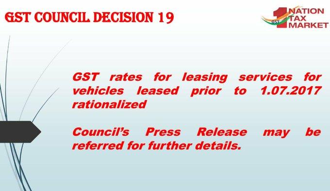 GST Council Decision 19
