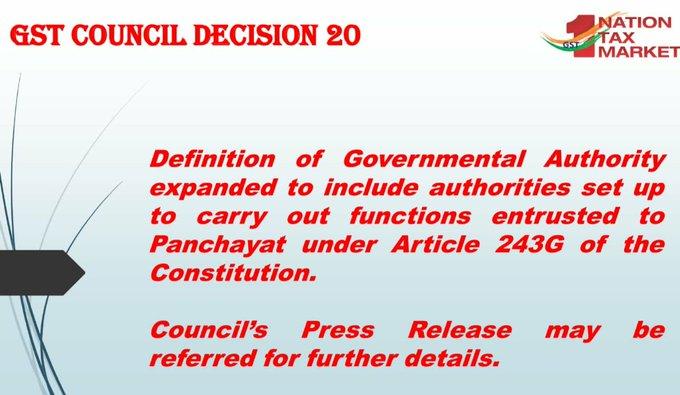 GST Council Decision 20