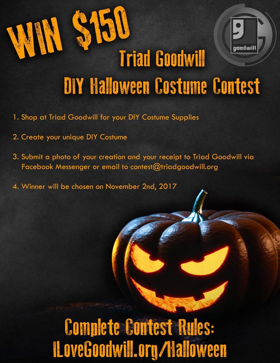 "triad goodwill on twitter: ""win $150! #diy your #halloween costume"