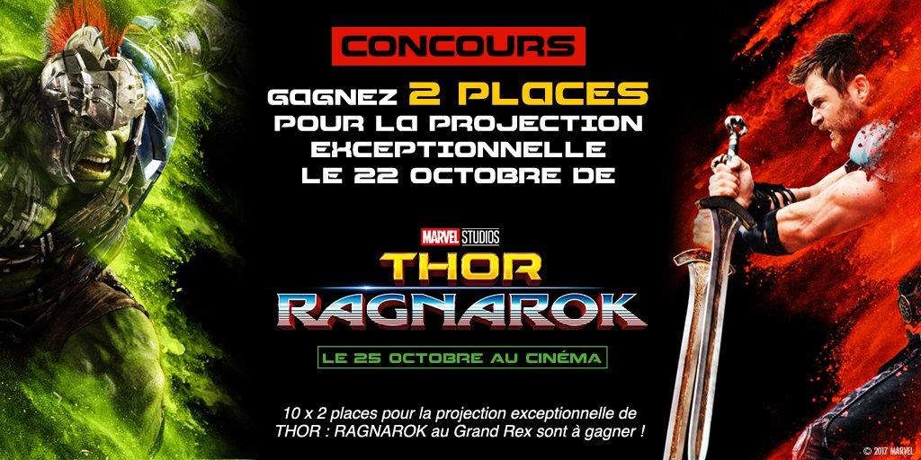 RT pour tenter de gagner 2 places pour la projection exceptionnelle de #ThorRagnarok au @LeGrandRex !