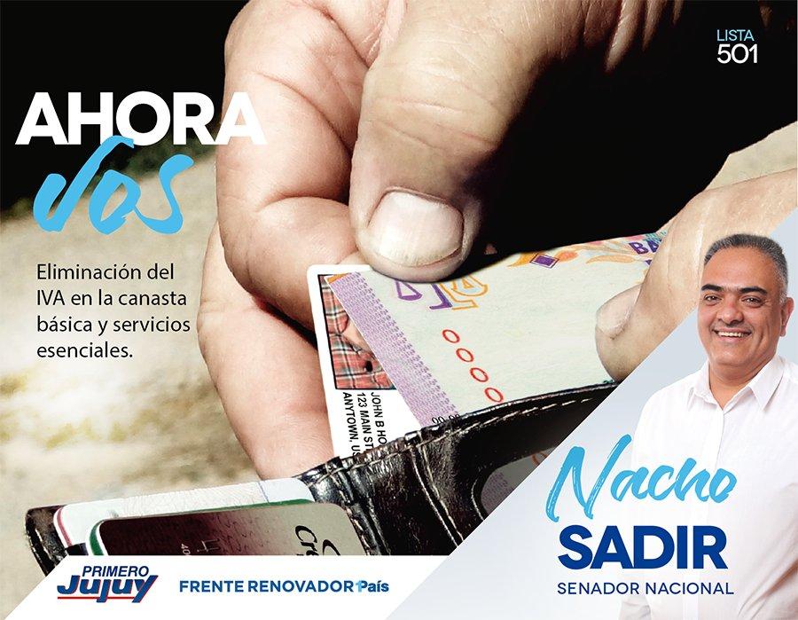 Se trata de la eliminación del IVA de los alimentos de la canasta básica de alimentos y de los servicios esenciales #FrenteRenovadorJujuy