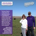 Thank you, Barbara & Wayne Harms, for supporting Konza Prairie research & grad students! #KStateInspires