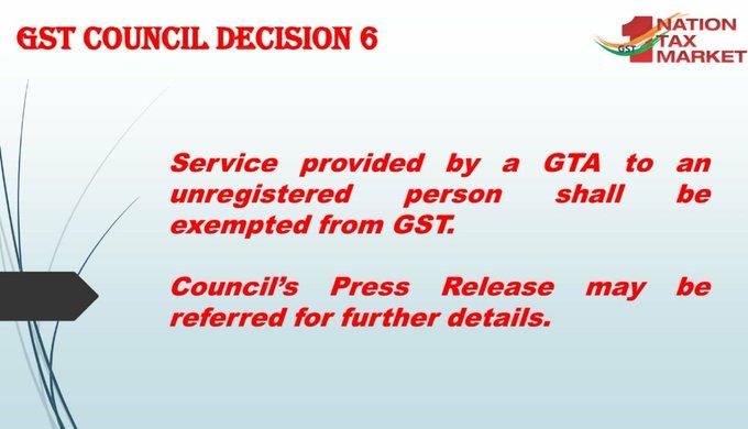 GST Council Decision 6