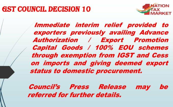GST Council Decision 10