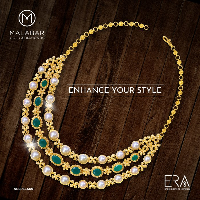 f2134d168 Accentuate the true beauty and essence of women with Era necklace from Malabar  Gold and Diamonds.pic.twitter.com/X2dCVwWBlR