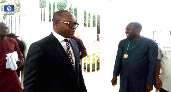 The junior Minister for Petroleum Resources, Dr. Ibe Kachikwu is currently in a meeting President Muhammadu Buhari in Aso Rock, Abuja.