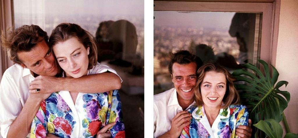 #DirkBogarde with his girlfriend #Capucine by Peter Basch, 1960 #WorldSmileDay<br>http://pic.twitter.com/eXERsrtx43